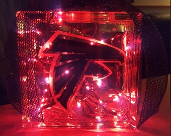 Atlanta Falcons Lighted Glass Block