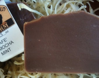 CAFE' MOCHA MINT soap - coffee, chocolate, mint
