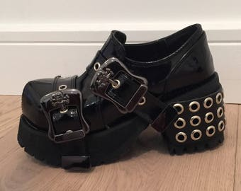 New Goth Punk Rock Chick Lolita Cosplay Anime Ankle Shoe Boots