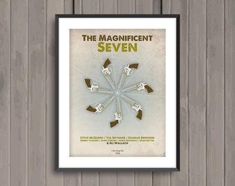 THE MAGNIFICENT SEVEN, minimalist movie poster