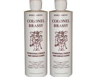 2 Bottles of Colonel Brassy Hard Surface Cleaner Vertex Industries great price
