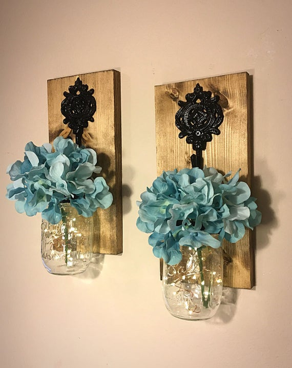 Mason jar wall decor how to : Mason jar sconces wall decor