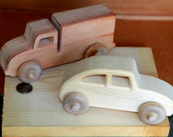 Wooden Cars & Trucks without any finish