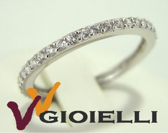 Ring Silver 925 Cubic Zirconia eternity ring pattern all round with woman