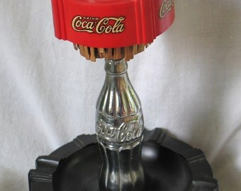 Very Rare And Hard To Find 1930's Coca-Cola Advertising Ashtray Made By  American Pullmatch Corporation