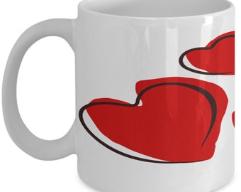 Hearts Mug - Valentines Day Mug - Love Mug