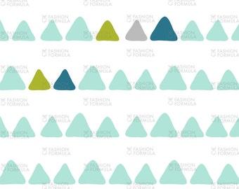 Modern Dino - Boys Triangles Fabric by littlearrowdesigncompany