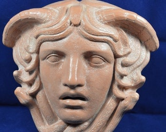 Erinyes furies mask reproduction ceramic sculpture ancient chthonic deities