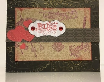 Embossed Steampunk Valentine Card