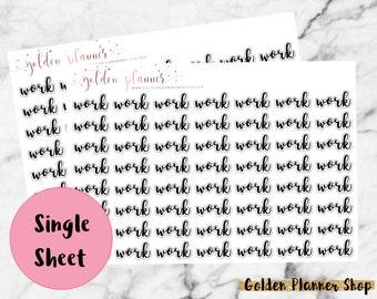 Work Stickers for Erin Condren Life Planner, Happy Planner, Recollections Planner