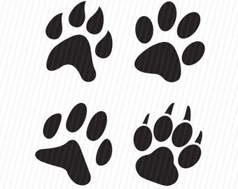 Paws Print Svg, Dog Svg, Svg Files, Cricut Cut Files, Silhouette Cut Files
