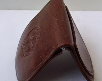 Mini coin purse, Leather change purse, Brown mini leather purse, Brown change leather purse, Womens coin purse