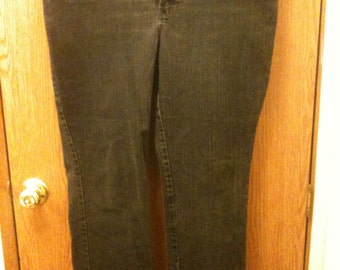 Women's goth Studded Black Jeans, Goth Studded Black Pants, size 18W
