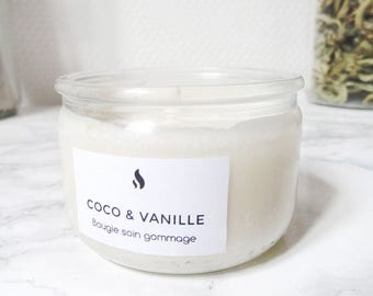 Vanilla 100 ml - 100% natural soy wax - essential oil & coconut scrub candle / plant organic - Organic Candle