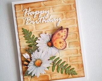 Cards handmade, birthday cards handmade, mixed media cards, 3d birthday card, 3d cards, 3d card, 3d greeting cards, unique cards, handmade