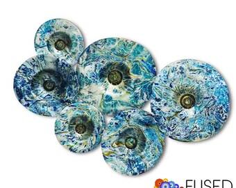 Blown Glass Bowls Wall Art 6 Pieces