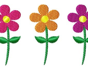 Daisy Embroidery Design, Flower Mini Embroidery Design. Machine Embroidery Design. Mini flower Embroidery Design. Flower Small.