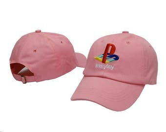 pink pretty boy playstation retro baseball cap