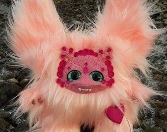 Handmade fantasy monster unique doll toy. Completely handmade. 40 cm (16 in.)