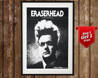 Eraserhead Vintage Movie Poster , Eraserhead Film , David Lynch , Movie Print, Retro Movie, Geek Gift, Cult Film , Surrealist, Cinema