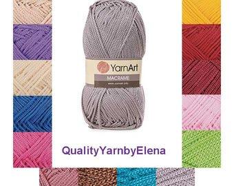 Macrame YARN ART -  100% Polyester yarn- 90g 130m (142  yards) turkish yarn