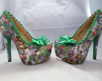 Custom Made Wizard of Oz Chronicles Comic Book Inspired Women's High Heel Shoes UK Adult Size 5