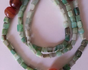 Chrysoprase African Carnelian Beads Necklace, African Beads, Ethnic Beads