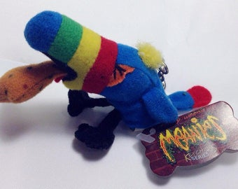 "Teeny Weenie Meanies Keychain Series 1, ""HURLEY"" the Toucan, Vintage 1997 Keychain Zipperpull, Toucan Teenie Weenie Meanies Collectable"