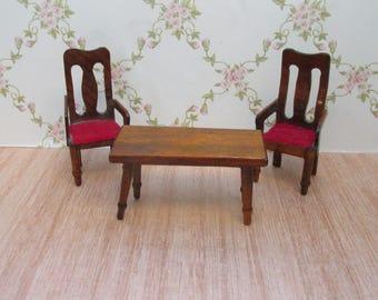 2 rode houten poppenhuis stoeltjes de stijl gerrit rietveld - Huis placemat wereld ...