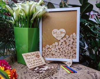 Wedding Guest Book Alternative Wedding Guest Book Drop top guest book Wedding guestbook Drop Box Guestbook Wedding book