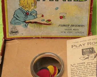 """1890's Parker Brothers Tiddledy Winks """"RARE"""" Original Everything. 80% OFF"""