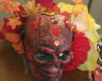 Day of the Dead Sugar Skull Fascinator