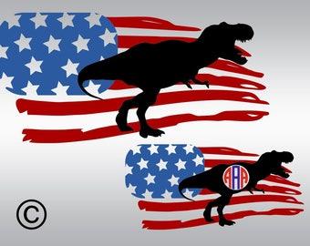 American flag svg, Dinosaur svg, Monogram svg, Kids svg, Usa flag svg, SVG Files, Cricut, Cameo, Cut file, Clipart, Svg, DXF, Png, Pdf, Eps