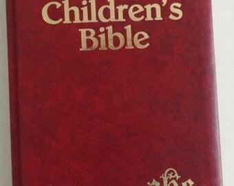 The Catholic Children's Bible 1983 with Jesus Mass Card Bookmark