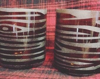 Wood Grain Recycled Beer Tasting Glasses