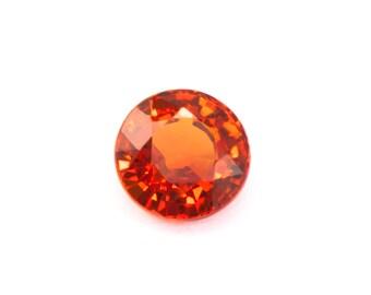 Natural Red Orange Sapphire - 0.75ct 5.11mm Round Cut  SPH02-05