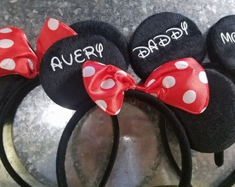 Personalized Mickey or Minnie Mouse Ears