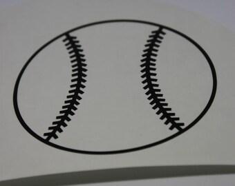 Baseball vinyl decal , tball vinyl decal , baseball car decal , tball car decal , softball decal
