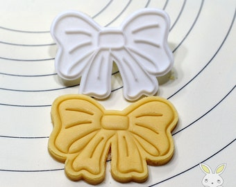 Cute Ribbon Cookie Cutter and Stamp