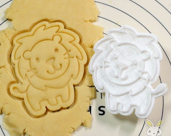 Cute Lion Cookie Cutter and Stamp