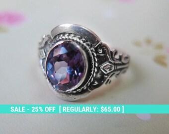 Gray Zircon Ring, Silver Gray ring, Silver CZ Ring, Gray Cubic Zirconia , Gray Ring, Silver Ring, Sterling Silver Ring, Statement Ring