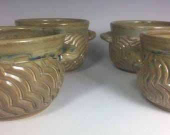Pottery Soup Bowl Set of Four