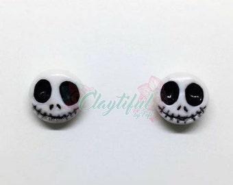 Jack Skellington Polymer Clay Studs Earrings