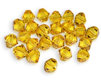 Swarovski Crystal Bicone 6mm Sunflower Beads 5301/5328 (Package of 24 Beads)