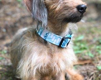 Blue Dog Collar - Boy Dog Collar - Summer Dog Collar - Dog Collar for Large Dogs - Personalized Dog Collar - Dog Collar for Girls