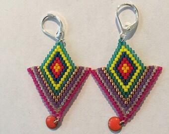 Beads miyuki ethnic earrings