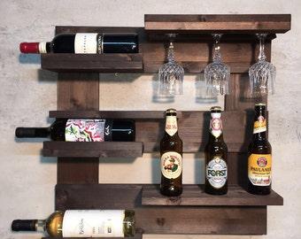 Solid wood wine racks
