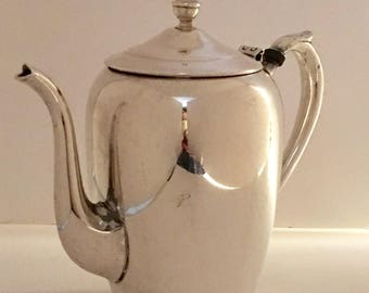F  B  Rogers Silver Co 1883 Silver Plate Tea Coffee Pot Pattern 788 c 1968
