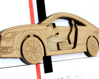 Audi TT Decor, Audi TT Mk2, Wood Cut Art, Audi TT Blueprint, Blueprint Art, Audi tt 8j, Audi Blueprint, Audi tt, Automotive Art, 8x10 or A4