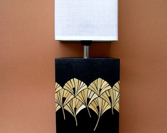 "Table lamp with straw subjects ""Ahlbeck"""
